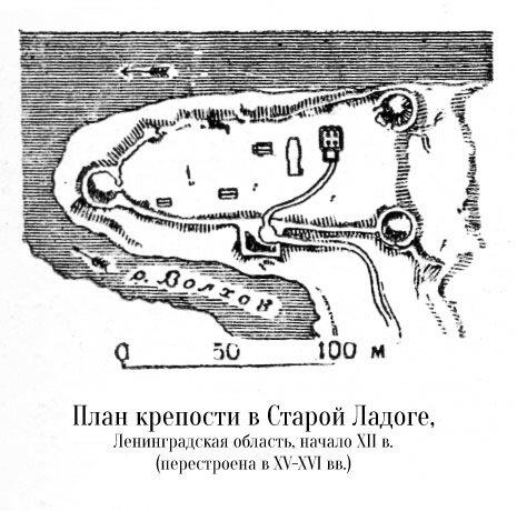 План крепости в Старой Ладоге в Ленинградской области
