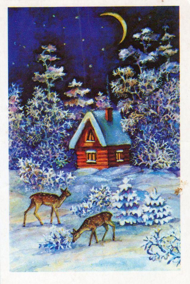 У леса на опушке. С Новым годом!