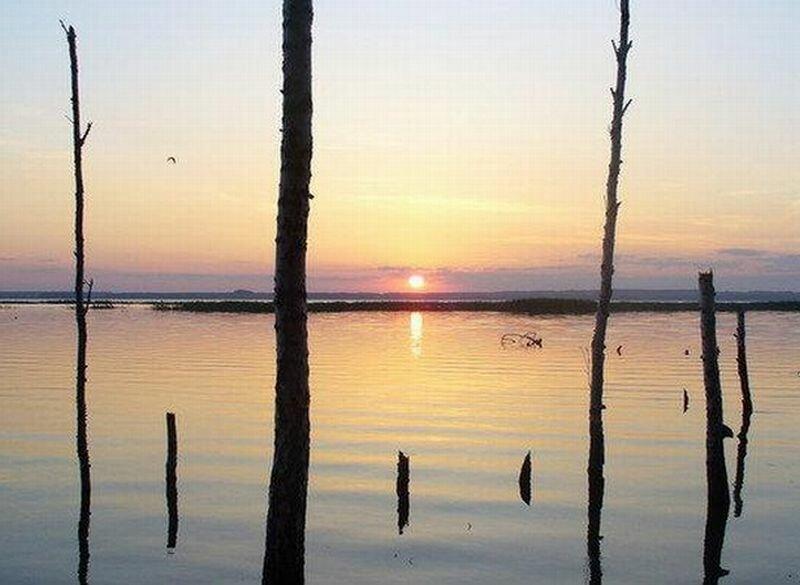Рассвет на озере Тишки (06.08.2013)