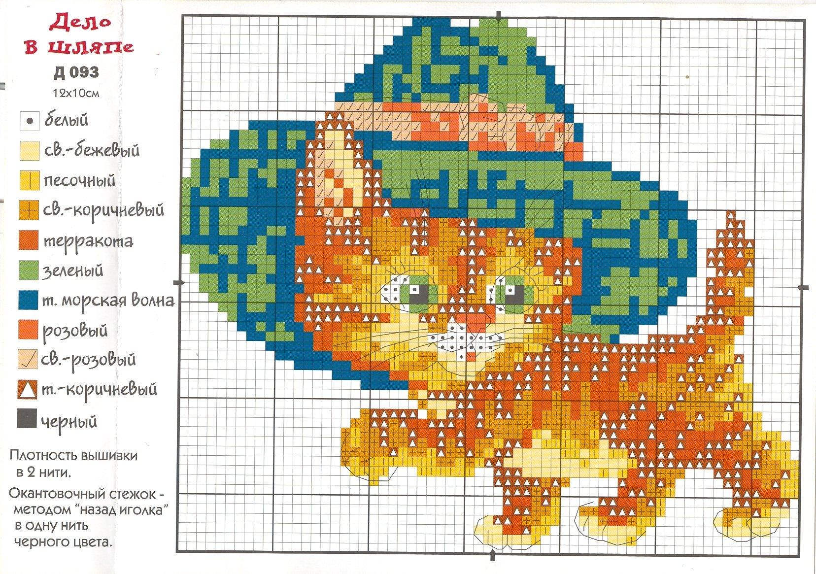Вышивка схемы котята для детей