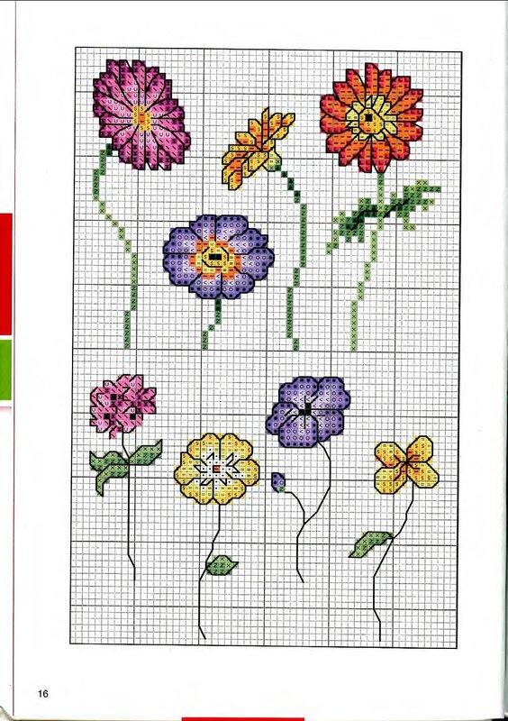 Картинки цветов для вышивки крестом 739