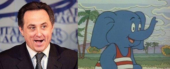 Виталий Мутко в мультфильме, слоненок