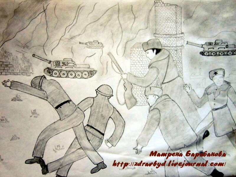война танки рисунок
