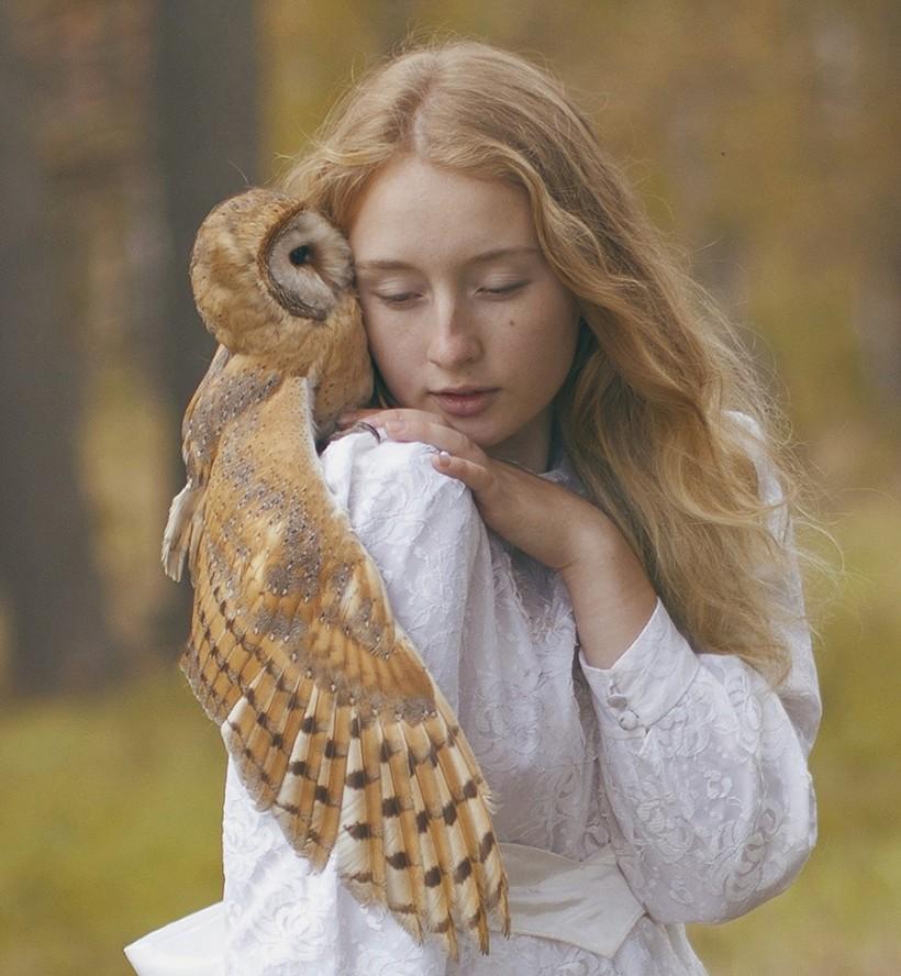 Русские красавицы и дикие животные