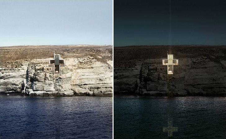 6. Часовня Святого Креста сможет служить и маяком В ночное время часовня с включенным освещением буд