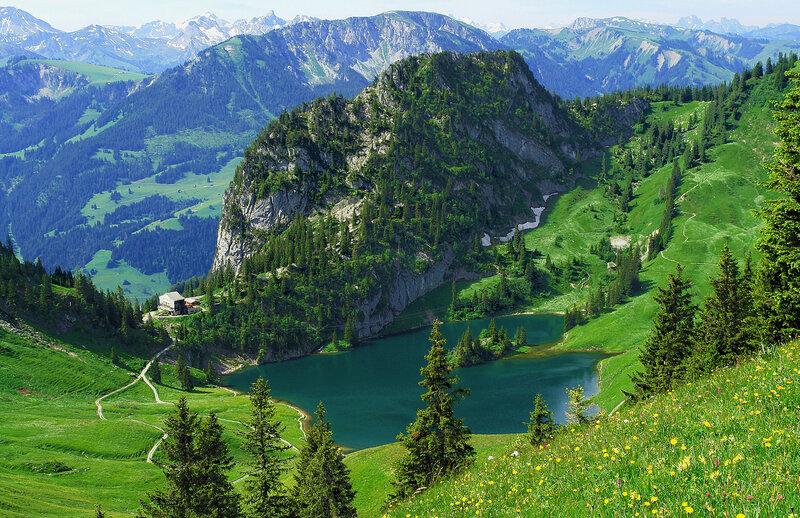 На вершине Штокхорн, Швейцарские Альпы