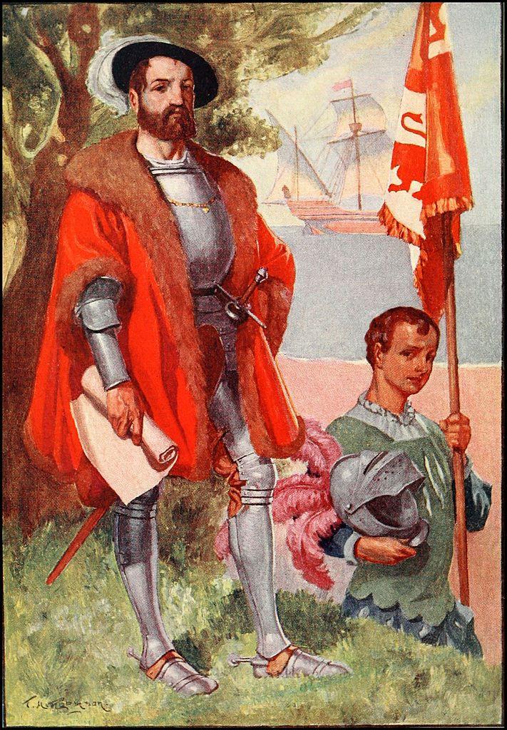 Идеализированный портрет Кортеса. Иллюстрация М. Коксхэд, 1909 год.jpg