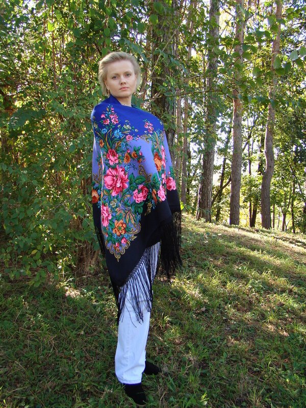 Рыжее лето - Павловопосадские платки