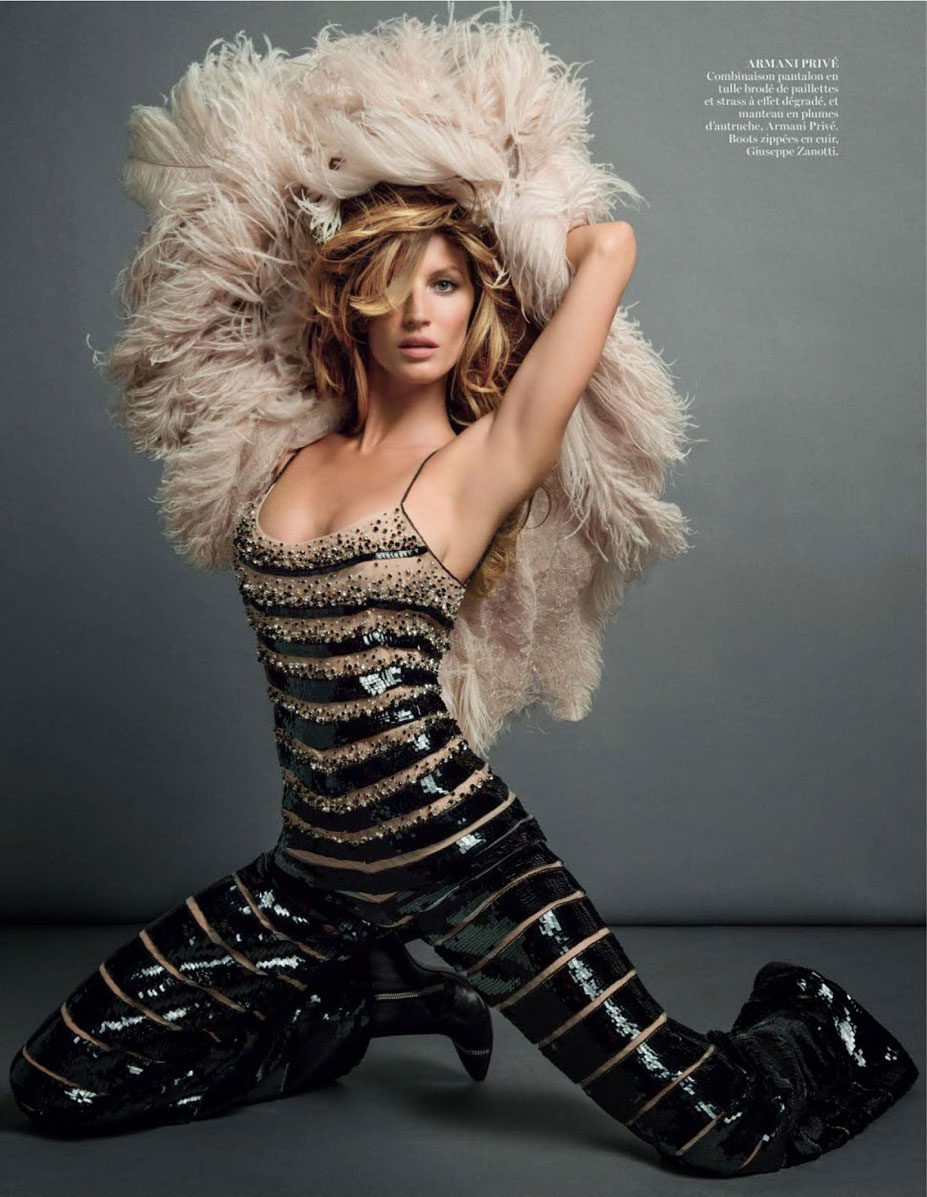 -двойная- Жизель Бюндхен / Gisele Bundchen by Inez & Vinoodh in Vogue Paris november 2013