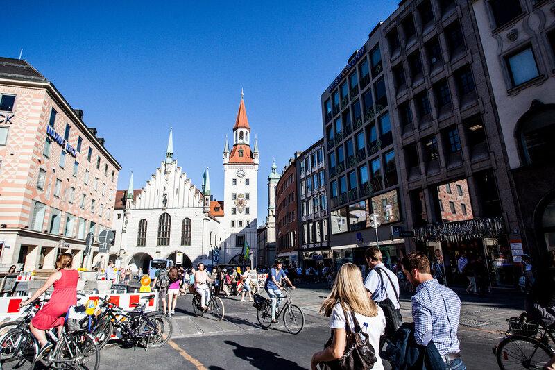 фото пешеходной зоны туристов в мюнхене ругать меня