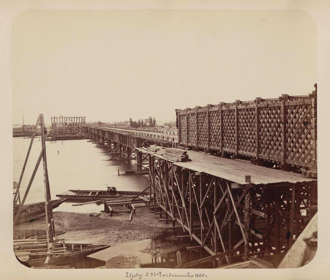 Начало строительства моста 1860 г.