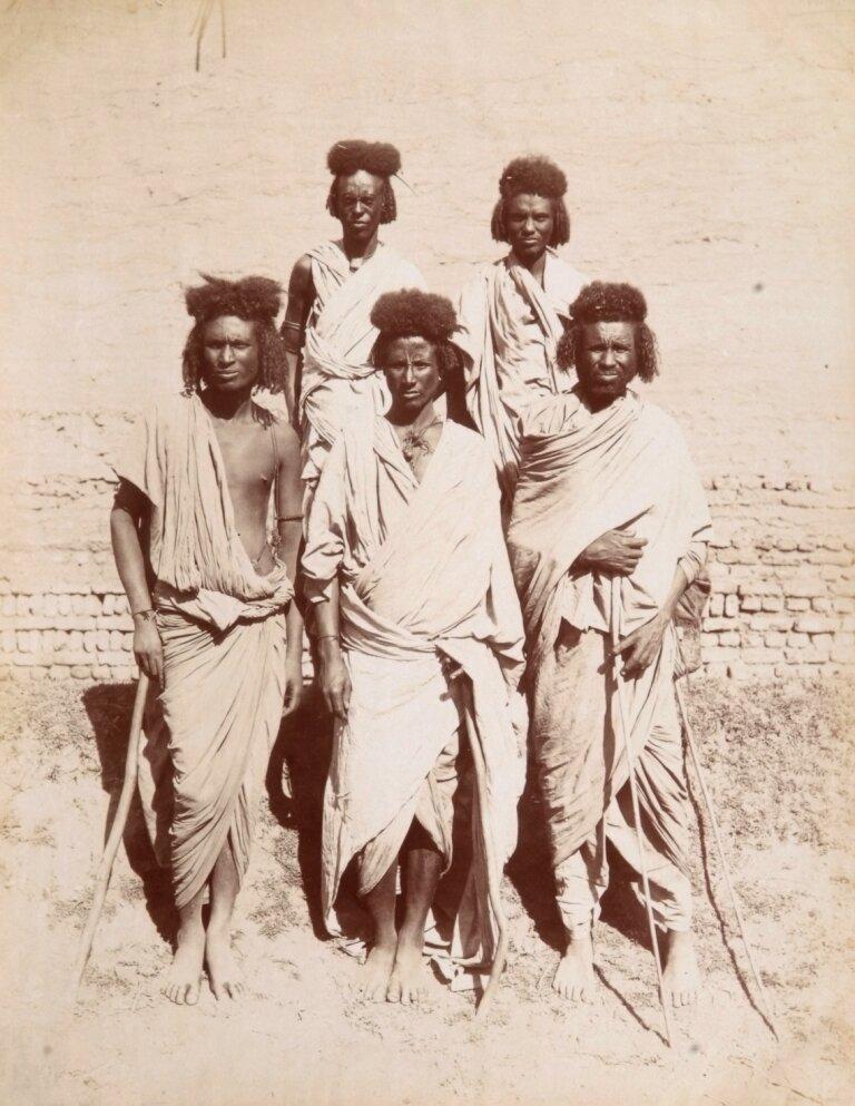 1880. Группа мужчин. Судан
