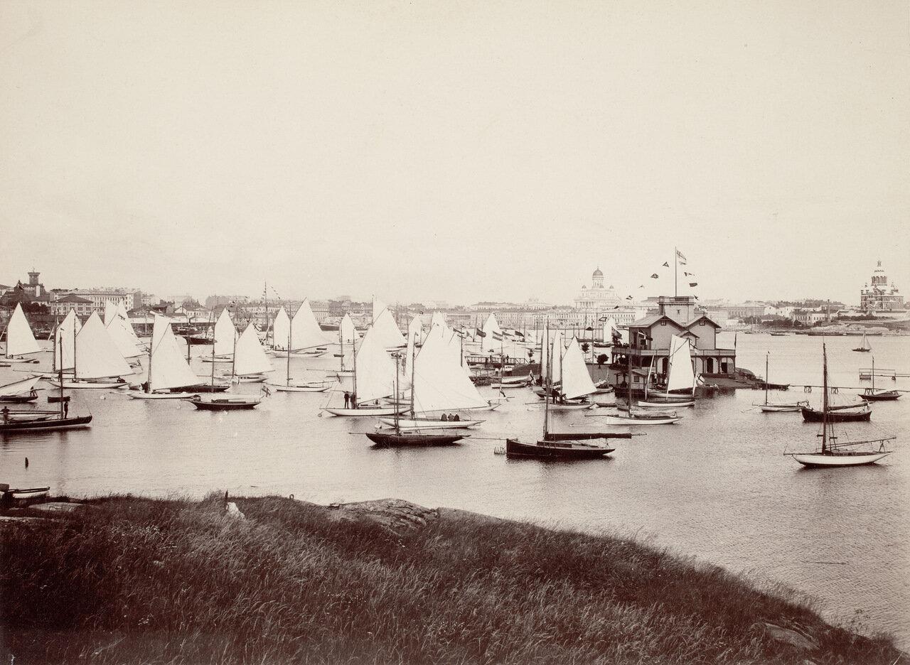 Южный порт с парусниками. Конец XIX века