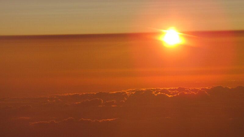 Закат над Северной Африкой