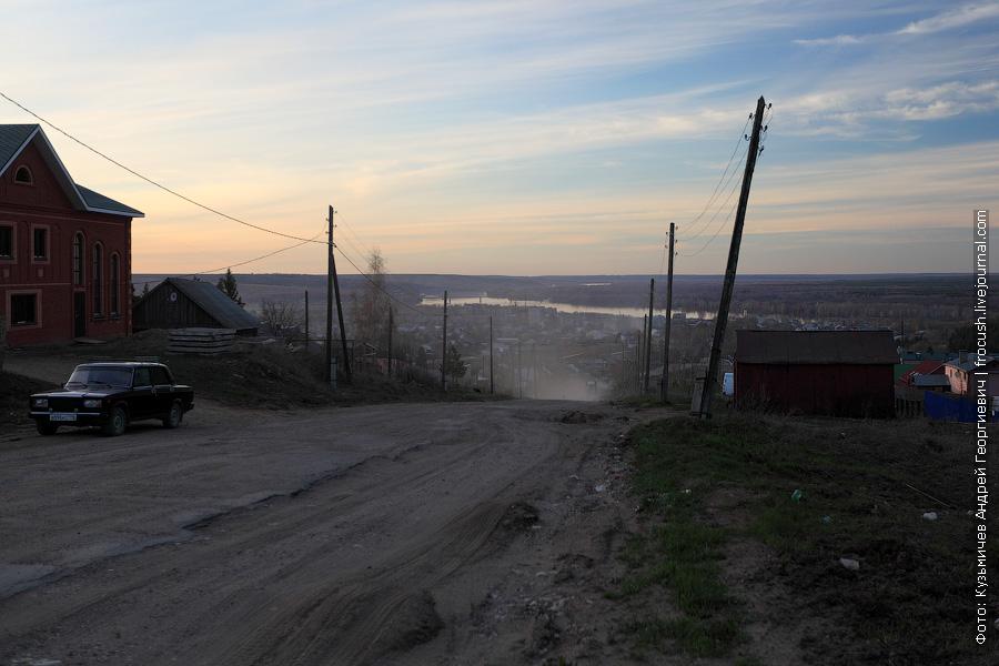 Посетили окраину Вятских Полян и посмотрели на город и реку Вятку с высоты