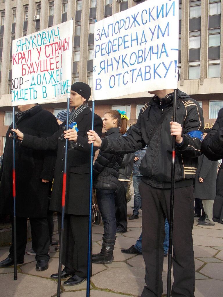 Запорожский Евромайдан: «Банду геть!», «Ода чму» и галочка против Януковича (ФОТОРЕПОРТАЖ), фото-5
