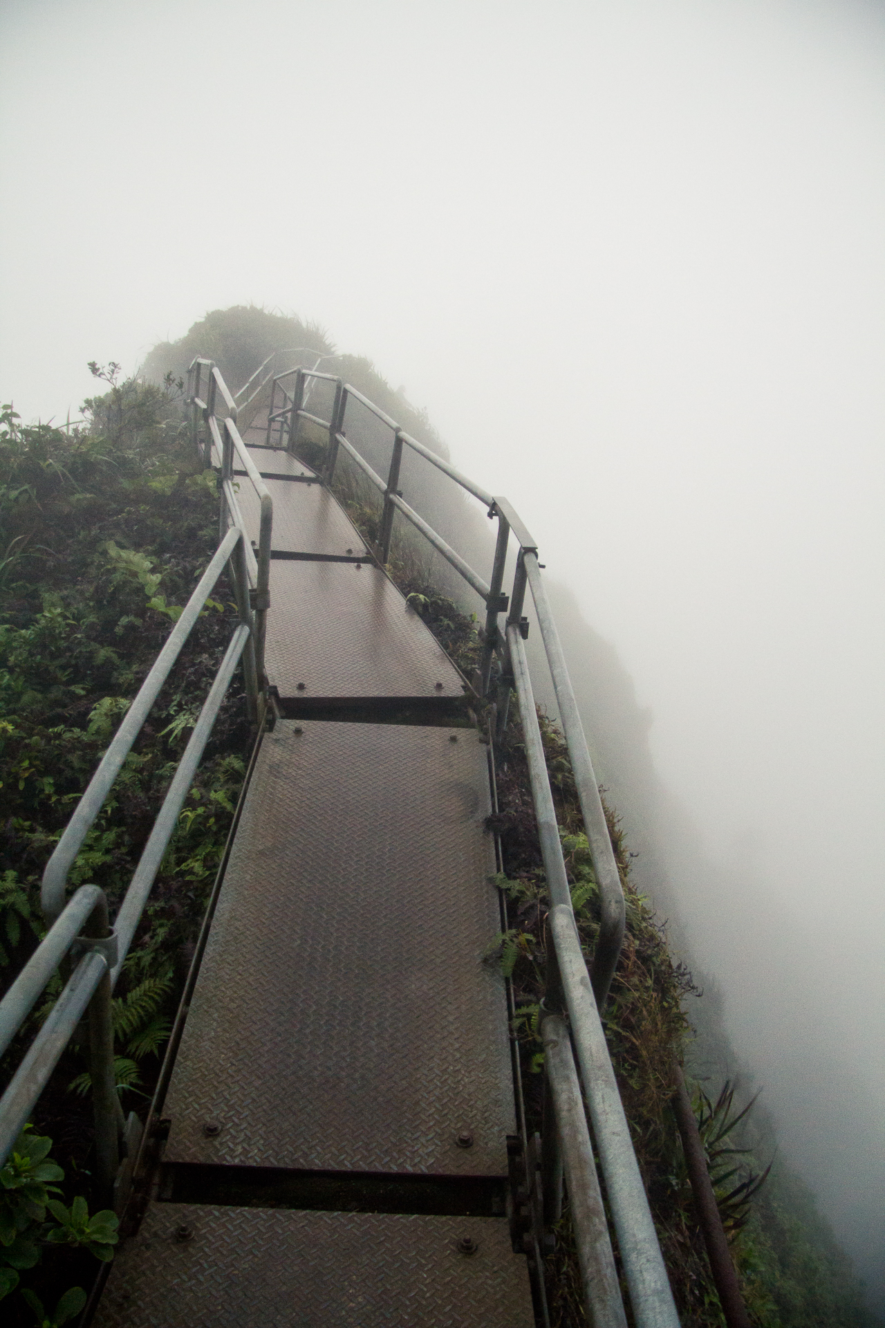 Haiku Stairs aka Stairway to Heaven on O'ahu, Hawaii.
