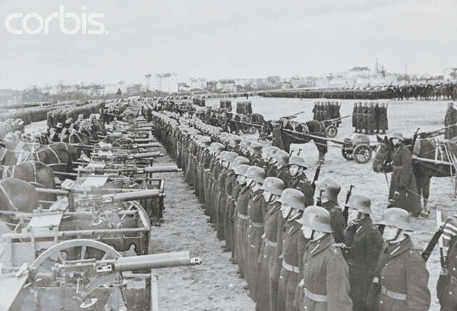 Latvian Military Being Reviewed