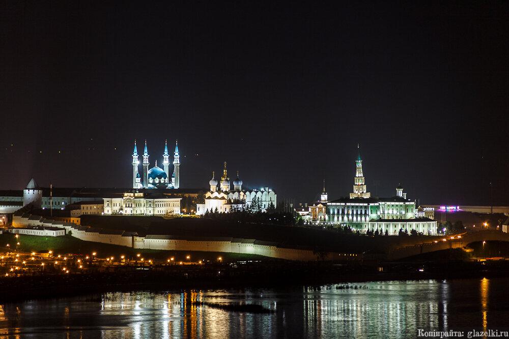 Ночная Казань.