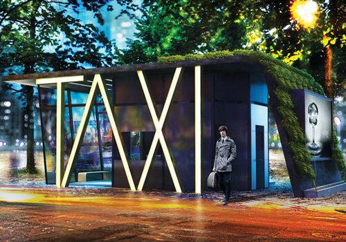 Стоянка для такси в стиле офиса