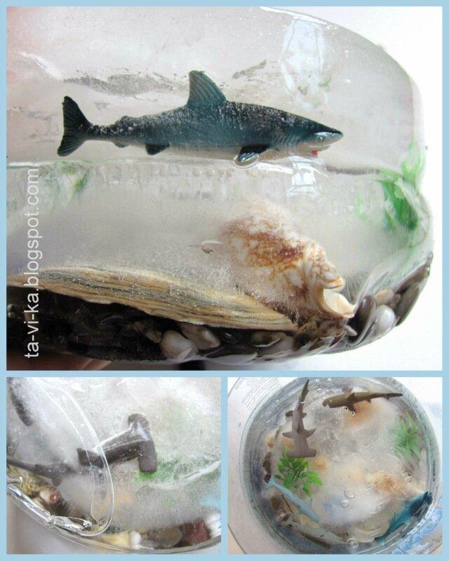 ледяной аквариум - детская поделка