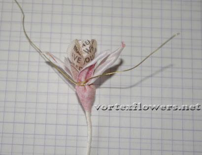Как сделать бутон для розы из ткани своими руками.