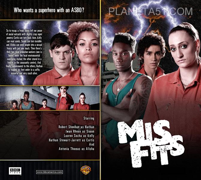 Плохие / Отбросы (Долбанутые) 1-5 сезон / Misfits (2009-2013/HDTVRip/BDRip 720p) + AVC