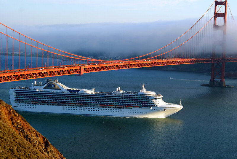 «Великая арфа над теплоходом».   Сан-Франциско.