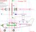 Чертеж модели самолёта Cessna 210
