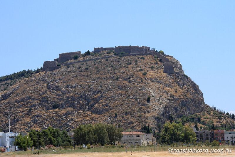 Пелопоннес, Нафплион, вид на Паламиди