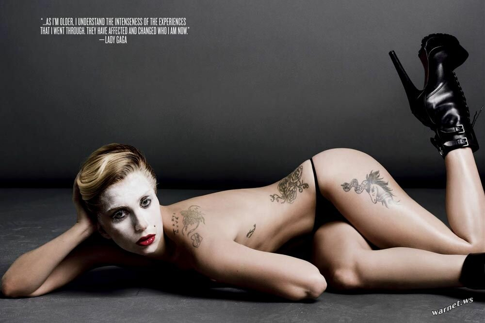 Леди Гага натёрла соски свеклой