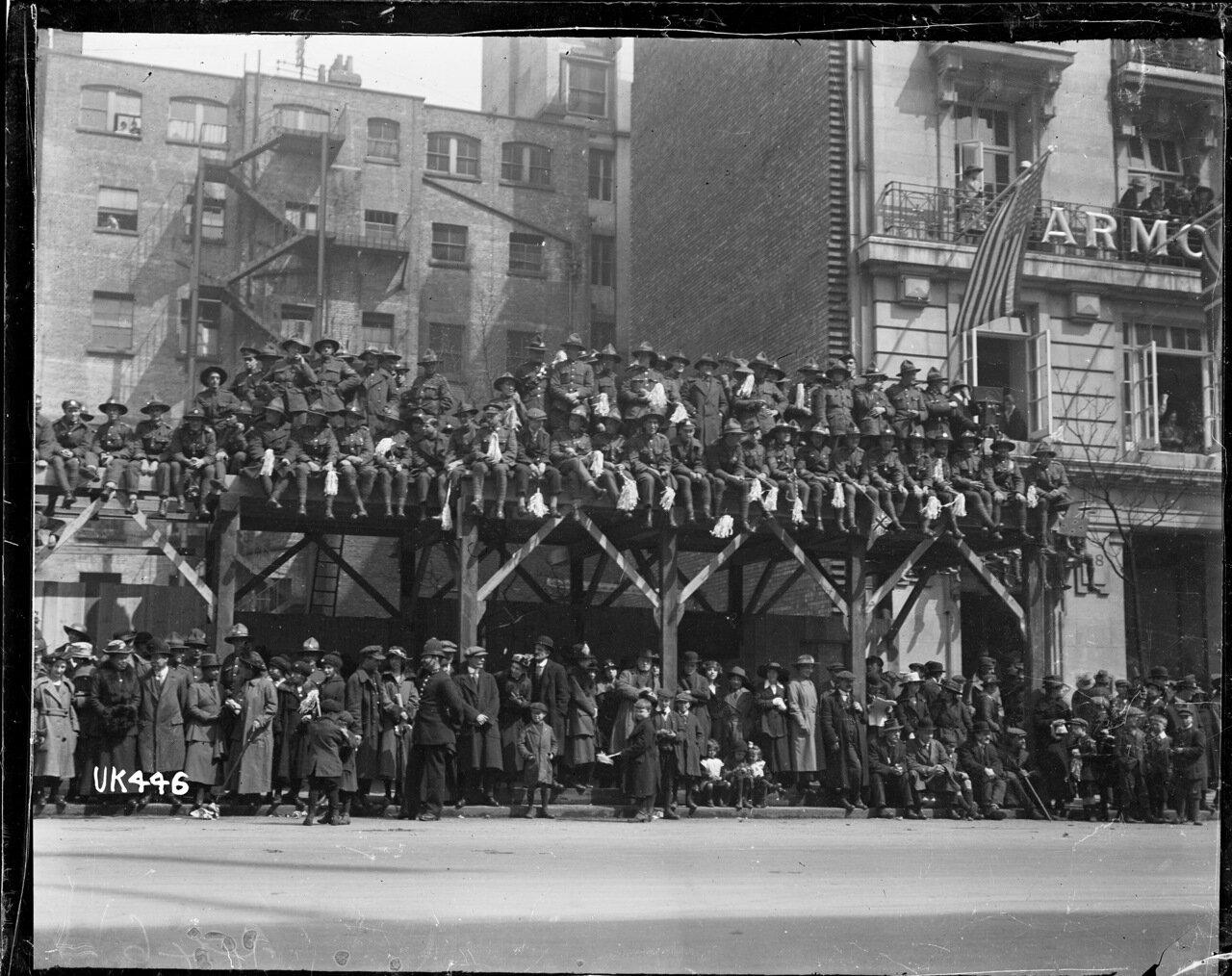 Толпа зрителей во время военного парада в Лондоне