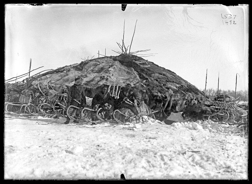 Жилище тундрового коряка