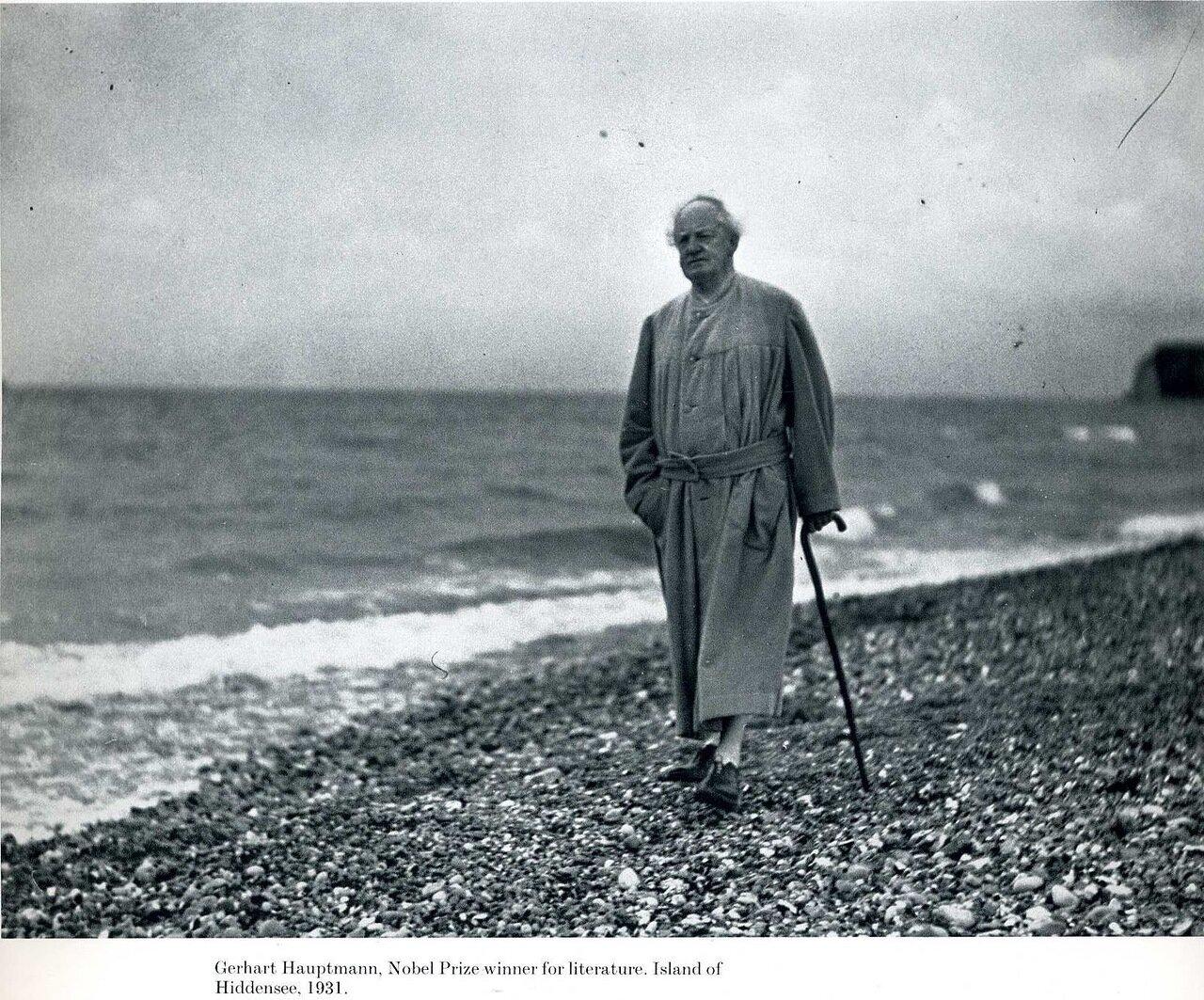 1931. Герхарт Гауптман (лауреат Нобелевской премии по литературе за 1912 год), остров Хиддензе