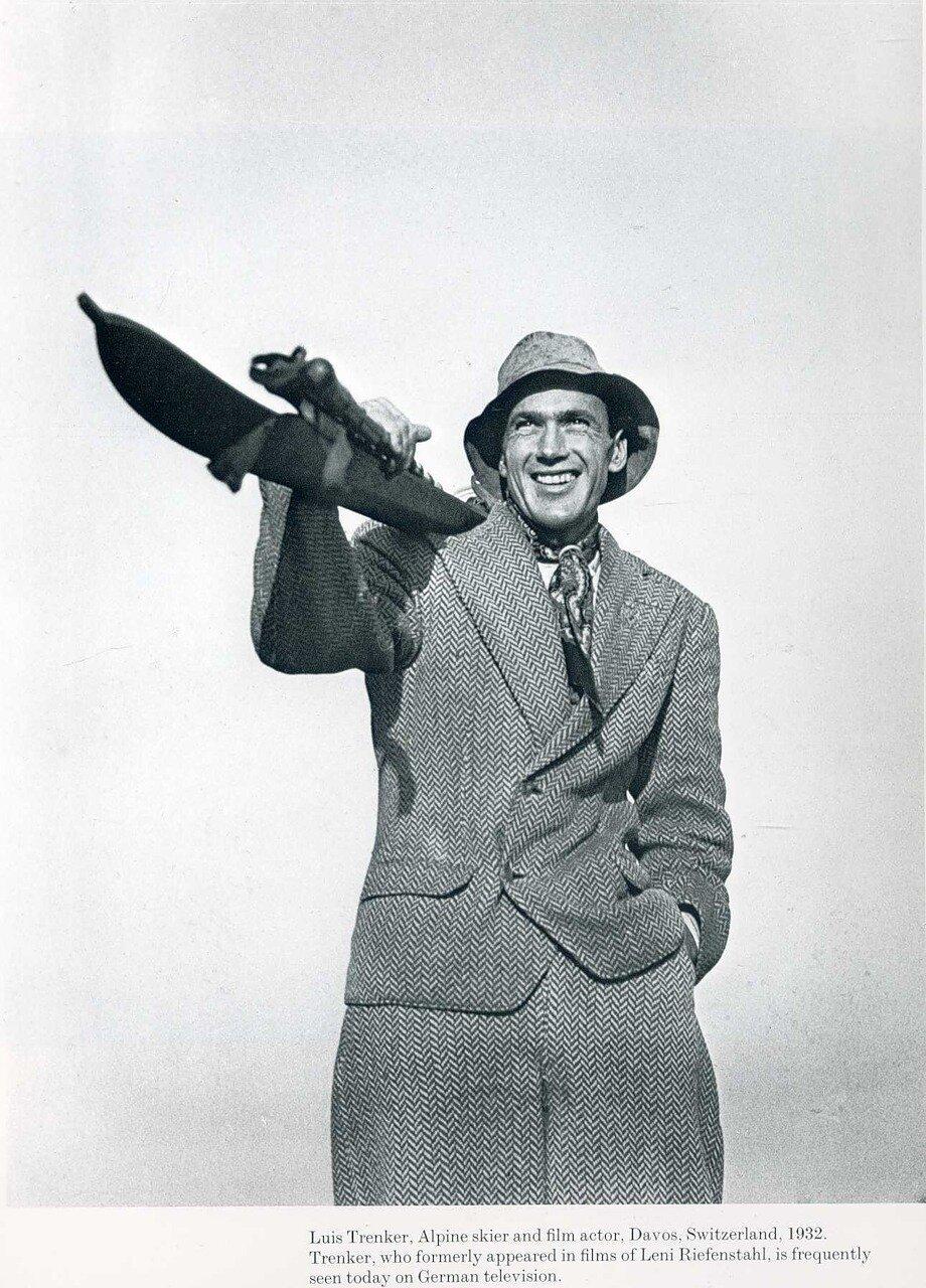 1932. Луис Тренкер, горнолыжник и актер, Давос, Швейцария