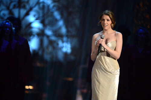 WASHINGTON, DC - DECEMBER 15: Singer/actress Anna Kendrick performs onstage at TNT Christmas in Washington 2013 at the National Building Museum on December 15, 2013 in Washington, DC. 24313_002_0373.JPG (Photo by Theo Wargo/WireImage)