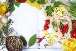 Ingredients fof making Italian Pasta