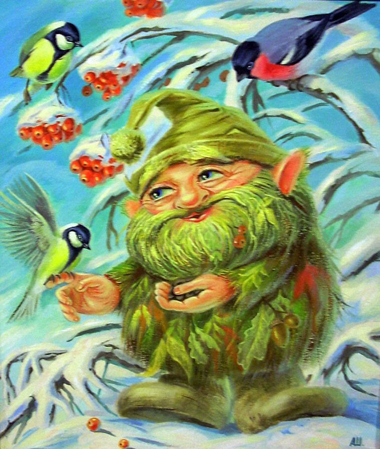 Картинка сказочного лесовичка