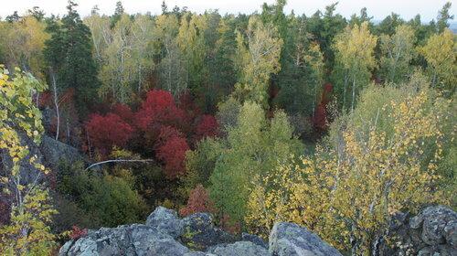 Уральская осень - вид с Азов-горы