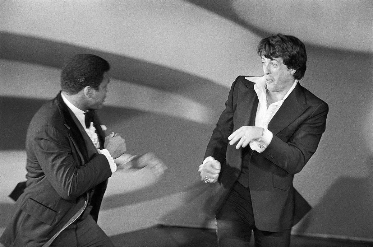 Muhammad Ali & Sylvester Stallone Box