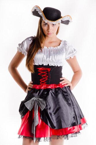 Пиратский костюм с юбкой