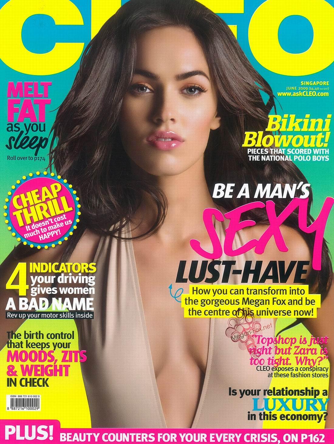 Меган Фокс (Megan Fox) фото в журнале Cleo, июнь 2009