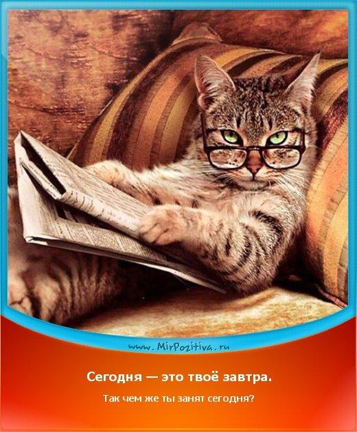 позитивчик дня: Сегодня — это твоё завтра. Так чем же ты занят сегодня?