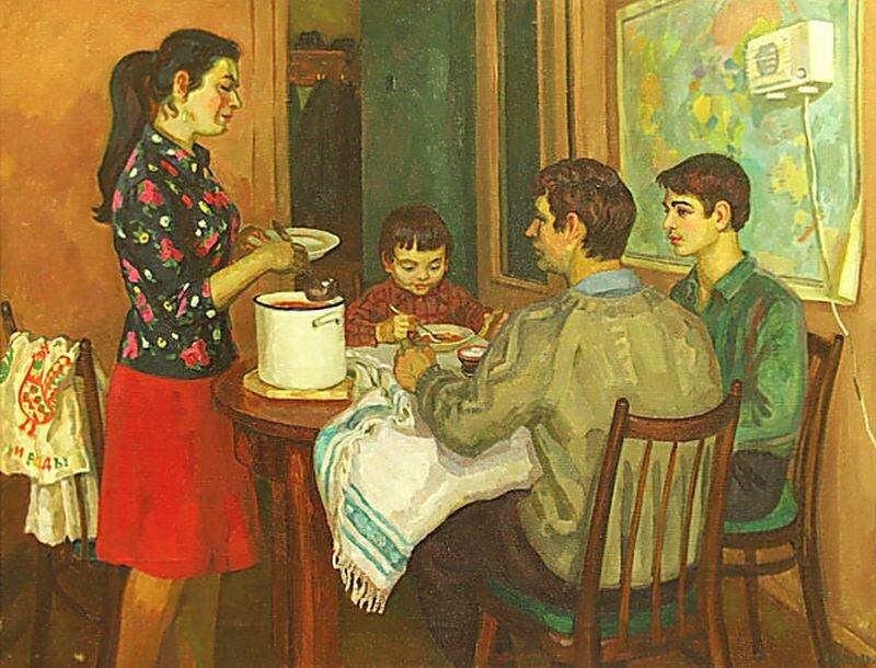 Хохловкина Эльза Давидовна.Обед