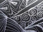30-18 Урок 1, задание 3, стежка zentangle на ладони, лицевая часть макро.