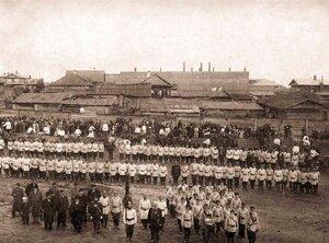 Барнаульское Добровольное Пожарное Общество в день празднования 10-ти летнего юбилея. 1903 г.