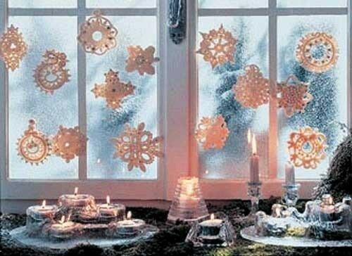 узор на окне к Новому году