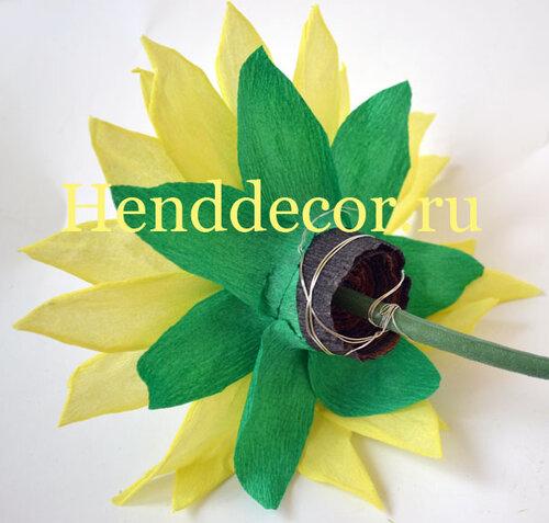 Цветы на ветке из бумаги 150