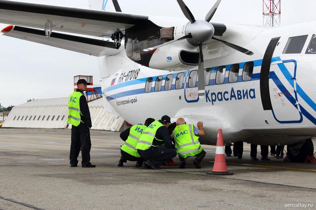 Самолёт из Красноярска в аэропорту Барнаула