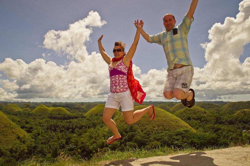15. Полеты над Шоколадными холмами во время самостоятельного путешествия на филиппинский остров Бохоль
